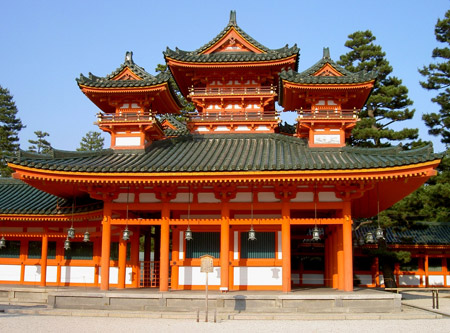 le japon temple heian shrine kyoto. Black Bedroom Furniture Sets. Home Design Ideas